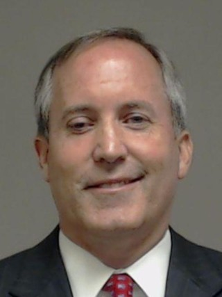 Attorney General Ken Paxton's mugshot from his booking this morning on three felony charges
