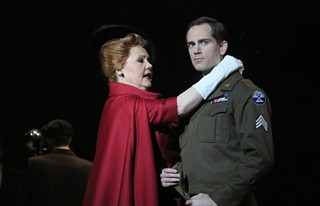 Brenda Harris and Matthew Worth in the Minnesota Opera production of The Manchurian Candidate