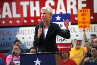 Cecile Richards of Planned Parenthood speaks against a rule banning the provider from the Women's Health Program during a March 2012 Capitol rally.