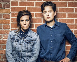 Cameron Esposito (left) and Rhea Butcher