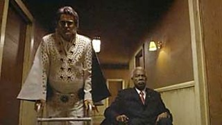 Bruce Campbell as Elvis Presley and Ossie Davis as John F. Kennedy in <i>Bubba Ho-Tep</i>