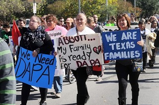 Rally for immigrant families in November 2015
