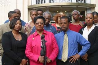 Barbara Shorts, Hazel Obey, and family and 