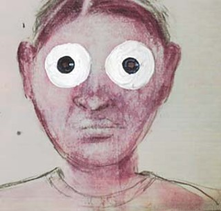 <i>Warboy (kid with the thalidomide eyes)</i>, 2002, by Terry Allen