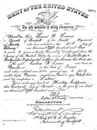 U.S. Army discharge issued to the author's grandfather in 1902