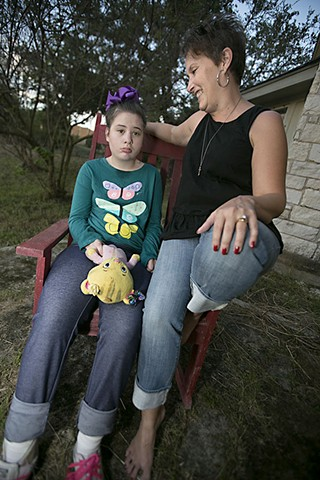 Terri Carriker and her daughter Catherine, who suffers from epilepsy