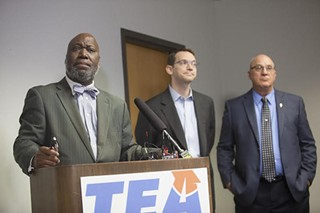 (l-r) Michael Williams, Mike Morath, and D.W. Rutledge