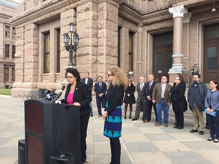 Joining the Texas Association of Business, Austin Reps. Celia Israel (left) and Donna Howard promise to fight against discriminatory legislation come January.