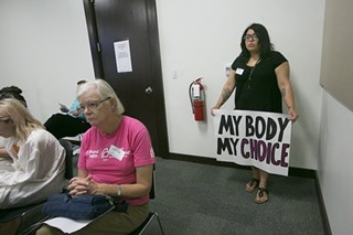 Pro-choice advocates testified against the proposed fetal burial rule earlier this year.