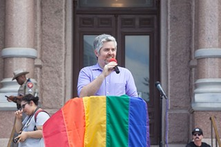 Jimmy Flannigan at the Equality March earlier this month