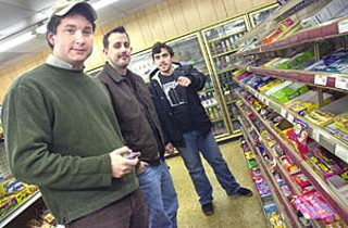 Local heroes (l-r) Burnie Burns, Geoff Fink, and Jason Saldaña use video games  to make movies. They're really quite well-known for it.