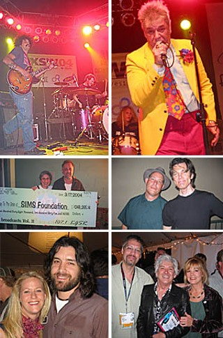 top to bottom, left to right: Tia Carrera's Jason Morales gets primordial; Class of '78 perennial host Randy Biscuit Turner; Austin's SIMS Foundation collects its annual rake-in from KGSR's Jody Denberg (r); Forever Skunks: Jon Dee Graham (l) and Jesse Sublett; Trish Murphy and Bob Schneider; Don Harvey(l) and Ian & Kim McLagan