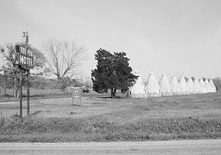 Ten little teepees in a row