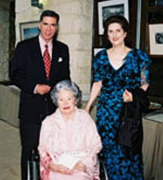 Sen. Chuck Robb and Lynda Johnson Robb with Lady Bird Johnson (seated) at the Hill Country Celebration