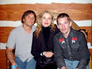 All grown up (l-r): Richard Linklater, Julie Delpy, and Ethan Hawke