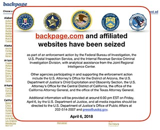 Feds Shut Down Backpage.com