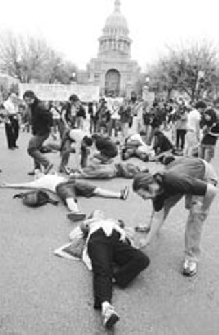 Demonstrators playing dead at the Capitol may no longer have to fake it.