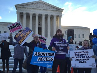Hundreds of pro-choice and anti-choice activists gathered at the U.S. Supreme Court steps in 2016