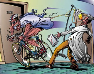 The Bill Cass illustration, of Armstrong living strong 