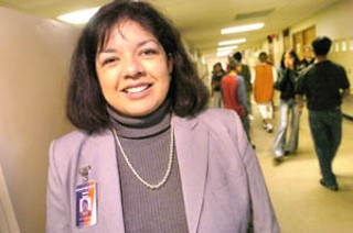 International High School principal Anabel Garza