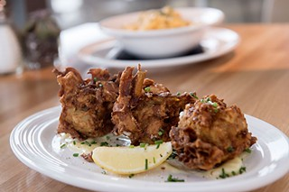 Artichoke fritters at Cookbook Bar & Cafe