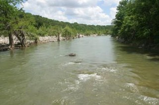 This view of the Pedernales River from Hammett's 