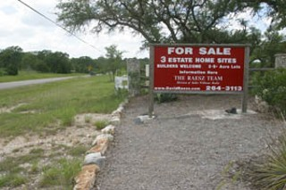 This sign along Hamilton Pool Road confirms some 