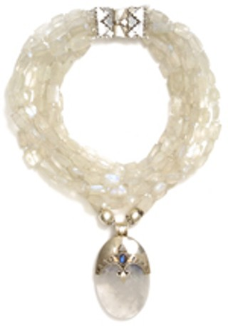 A magnificent moonstone and sterling silver necklace <br>from former Texan Marti Oppenheimer<br>(<a href=http://www.martidesigns.com target=blank><B>www.martidesigns.com</b></a>), <br>who will be showing her jewels at Russell Korman on Dec. 17th and 18th.