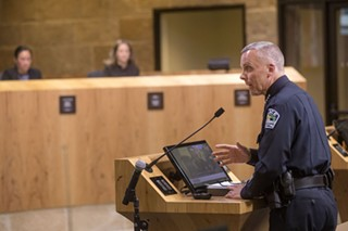 APD Chief Brian Manley at a City Council meeting in 2017
