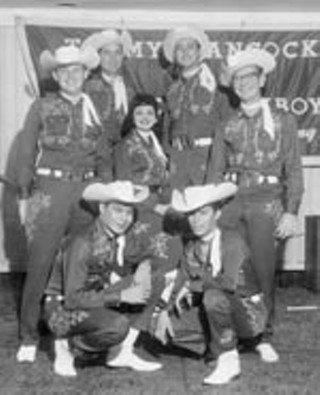 The Roadside Playboys, 1955. Charlene, center; 
