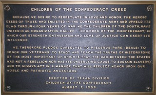 The Children of the Confederacy plaque was taken down in January of this year.