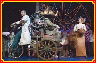 Caractacus and Co. in the London production of <i>