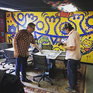 Dan Redman (l) and Val Kilmer (r) touring Mosaic Sound Collective in September.