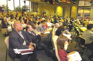 A full house heard the African-American Quality of Life Report to the City Council.