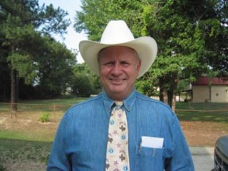 Cass County Judge Charles McMichael, of Linden, describes George W. Bush as a wannabe cowboy.