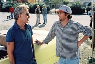 Put Me in Coach: Billy Bob Thornton (l) and Richard Linklater confer on the set of <i>Bad News B</i><i>ears</i>.