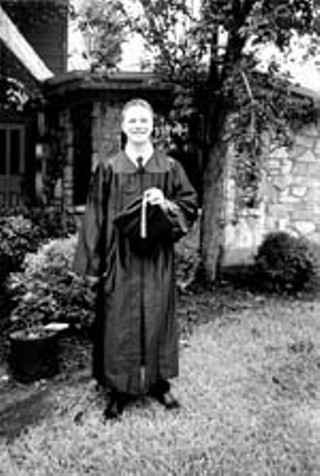 Threet on the day of his high school graduation.<br>Photo courtesy Lisa Threet