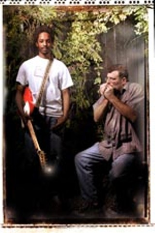 Black Joe Lewis (l) and Walter Daniels