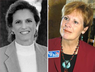 Kelly White (r) is Donna Howard's treasurer in the race for House District 48, but she's considering entering the race herself.