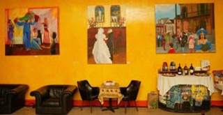 Exhibition of Alice Henderson paintings at Cafe Brazil, New Orleans, 2004