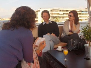 Kyle Henry and Cyndi Williams in Cannes