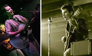 Left: Roky at Threadgill's, 2005. Right: Roky onstage with 
