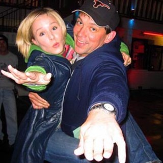 Star and show-runner celebrate after shooting the pilot episode.