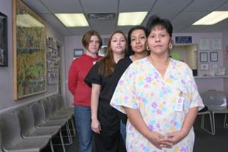 Clinic staff (front to back); Leticia Montelongo, Erika 
