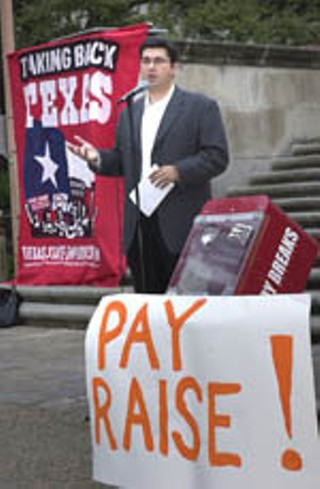 The Texas State Employees Union rallied on the 