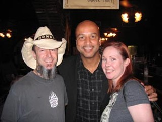 Honky bassist Jeff Pinkus and girlfriend Karen Raymond 