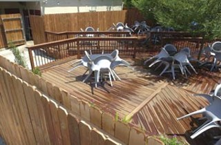South Congress Cafe's illegal back deck