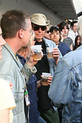 Neil Young at the Yard Dog day party