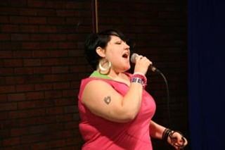 The Gossip's Beth Ditto belts it out at KVRX