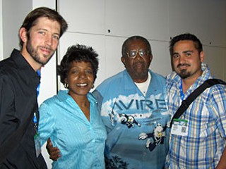 Ryan Polomski, Sandra and Walter Reed, and Frank Bustoz at SXSW Film 06